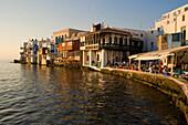 Bars directly at sea, Little Venice, Mykonos-Town, Mykonos, Greece