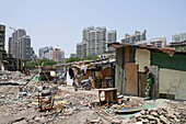 migrant workers living in demolition quarter, Hongkou, Shanghai