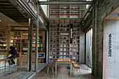 architects book shop, loft in converted factory, Souzhou Creek