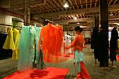 Fashion Biche de Bere,French haute couture and prêt á porter designer Biche de Bere, warehouse at Souzhou Creek, red, green, Nan Su Zhou Lu