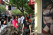 Dessous Shop, Huaihai Xilu, window display, window decoration, window dressing, store, pedestrain, arcade, shopping mall, sex, lingerie