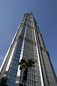 Jinmao Tower, Pudong,Center of Pudong, Lujiazui, Jin Mao Tower, 421 meter high, landmark, steel and aluminium fassade, 53rd to 87th floor, 53.-87, Grand Hyatt Hotel, Jin Mao