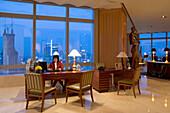 JW Marriott Hotel Shanghai,Five Star Hotel, Nanjing West Road, in 38th floor, opened 2003, Luxury hotel, reception