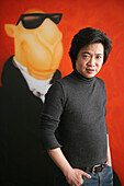 ShanghART art gallery, Moganshan,Portrait of painter Zhou Tiehei, born 1966, exibition hall, Gallery, art dealer, art dealer, 50 Moganshan Road