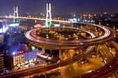 Nanpu Bridge, motorway, circle, spirale, Gaojia expressway to Pudong