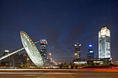 Oriental Art Centre Shanghai, Pudong, architecture, glass facade, Skyline Pudong, art, exhibition, art museum