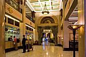 Peace Hotel, reception, Art Deco, Nanjing Road, interior, Porter, Bell boy, check in