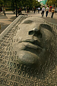 Art People's Square, Bronze, face and digital, floor, public space