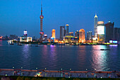 Skyline Pudong,Stadtsilhouette Pudong, Huangpu River, Fluß, Pearl Orient Tower, TV Tower, Jinmao