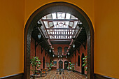 Pujiang Hotel, Astor House,Courtyard, traditional hotel, tudor style, Flair, Victorian interior