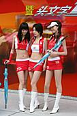 "Shanghai circuit race course,show gilrs, circuit, touring race, ""Boxenluder"", Werbung"