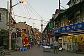 Hongkou quarter Shanghai, street, highrise, bicycle, street, Pearl Orient, Tower, TV tower