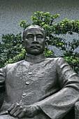 Sun Yat Sen, residence ,Skulptur des Revolutionärs, ehemaliges Wohnhaus, former residence, museum, exhibition, Ausstellung