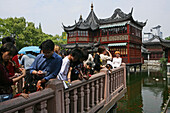Huxinting Teahouse, Yu Yuan Garden, Yu Yuan Garden, Nanshi, Feng Shui, Mid Lake Pavilion Teahouse, twisting bridge, Bridge of nine turnings, window, view