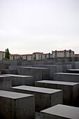 Grey blocks of stone, Holocaust memorial, Berlin, Germany