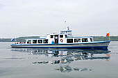 Excursion boat, Starnberger See, Bavaria, Germany