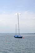 Sailingboats on Lake Starnberger See, Upper Bavaria, Bavaria, Germany