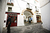 Costa Brava, Alleyway in the Old Town, Cadaques, Costa Brava, Catalonia Spain