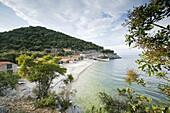 Beach and port, Port Beli, Cres Island, Croatia