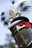 knights helmet, Kaltenberg knight festival, Kaltenberg, Bavaria, Germany