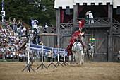 Knights fighting, Arena, Knights Tournament, Kaltenberg, Bavaria, Germany