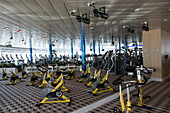 Workout Equipment in ShipShape Fitness Center on Deck 11,Freedom of the Seas Cruise Ship, Royal Caribbean International Cruise Line