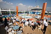 Pool Bar & Main Pool Area on Deck 11,Freedom of the Seas Cruise Ship, Royal Caribbean International Cruise Line