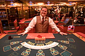 Happy Pokerface at Casino Royale on Deck 4,Freedom of the Seas Cruise Ship, Royal Caribbean International Cruise Line