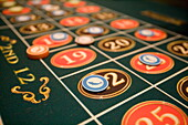 Playing Roulette at Casino Royale on Deck 4,Freedom of the Seas Cruise Ship, Royal Caribbean International Cruise Line