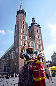 The LAJKONIK - the symbol of Cracow, photo in front of the Virgin Mary Church, Poland