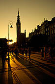 Town Hall at sunset in Gdansk, Danzig, Poland