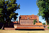 Castle in Malbork, Poland,Castle of the Teutonic Knights in Malbork (13th - 14th century), Poland