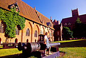 Yard in the Castle of the Teutonic Knights in Malbork (13th - 14th century), Poland