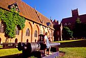 Innenhof von Marienburg, Burganlage der Deutschordensritter, Malbork, Marienburg, Polen
