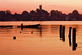 Sunrise in Marina in Mikolajki, Mazurian Lake District, Poland