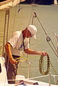 Sailor on Sniardwy Lake - Mazurian Lake District, Poland