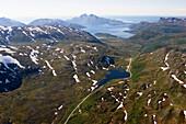 Berglandschaft bei Tromso, Norwegen
