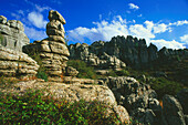 Karst,El Torcal-Mountains,near Antequera,Province Malaga,Andalusia,Spain