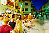 Nightlife in the old town, Lloret de Mar,Costa Brava,Province Girona,Catalonia,Spain