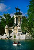 Monument for Alfonso XII.,Retiro Park,Madrid,Spain