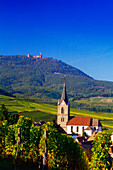 View over Rodern to Haut-Koenigsbourg,Elsass,France