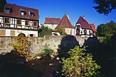 Houses along the Weiß River in Kaysersberg,Elsass,France