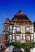 Timbered House at the Grand Rue in Kaysersberg,Elsass,France