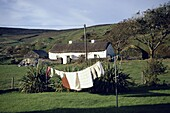 Isolated cottage with laundry near Glencolumbcille, County Donegal, Ireland