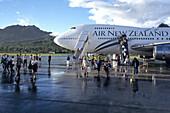 Air New Zealand 747-400,Rarotonga Airport, Rarotonga, Cook Islands