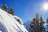 Man skiing downhill,  Lech, Zuers Arlberg, Austria