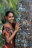 Pretty Polynesian Girl,Taha'a Pearl Beach Resort, Taha'a, French Polynesia