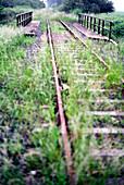 Old train tracks near Kalkar, North Rhine-Westphalia, Germany