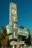 Old Sign of a Motel near Cocoa Beach, Florida, USA