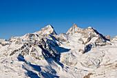 The Matterhorn snowcovered, Zermatt, Wallis, Switzerland